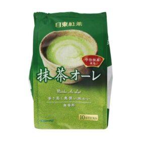 Milk & Green Tea Drink Powder Matcha au Lait (120g, 10pcs, Nittoh)